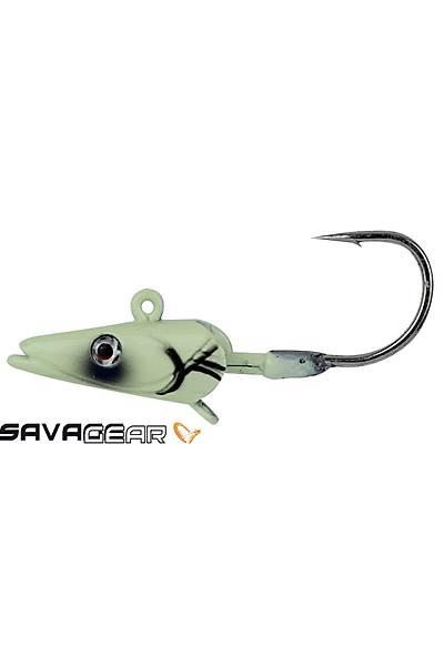 Savage gear Sandeel Jig Head 16g 3/0 - 3pcs Glow Suni Yem