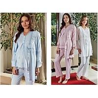 Bone Clup  lohusa 3' lü pijama Sabahlık takımı