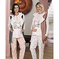 Fc Fantasy  Yelekli Lohusa Pijama Takımı