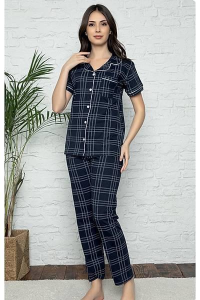 Önden Dügmeli Pijama Takým