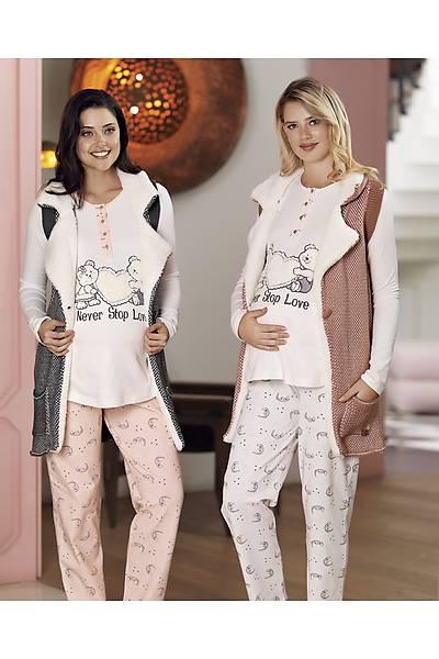 Fc Fantasy  Yelekli Lohusa Pijama Takýmý
