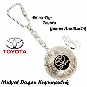 Toyota Amblemli Midyat Elişi Gümüş Telkari Anahtarlık STOK KODU: 20151197