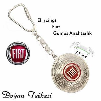 FİAT Amblemli Midyat Elişi Gümüş Telkari Anahtarlık STOK KODU: 20151207
