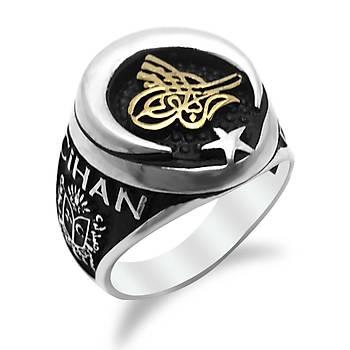 Osmanlı Cihan Taşsız Erkek Gümüş Yüzük