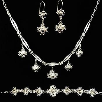 Gümüş El İşi Papatya Set Takım