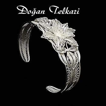 925 Ayar Elişi Telkari Gümüş Kelepçe Bilezik Stok Kodu: 20151255