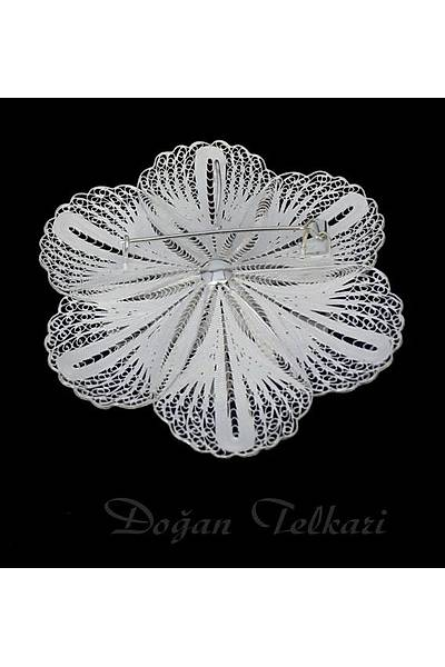 Çiçek  Model Telkari Kolye Ve Broþ Stok Kodu: 2014678