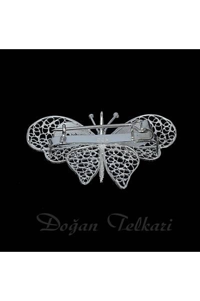 Kelebek Model Telkari Kolye Ve Broþ Stok Kodu: 2014679
