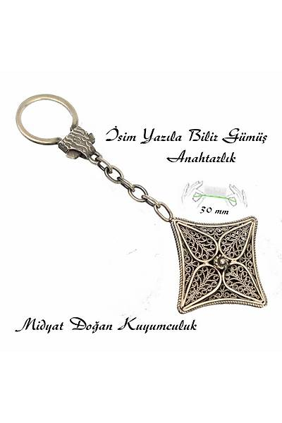 Midyat Eliþi Gümüþ Oksitli Telkari Anahtarlýk STOK KODU: 20150477