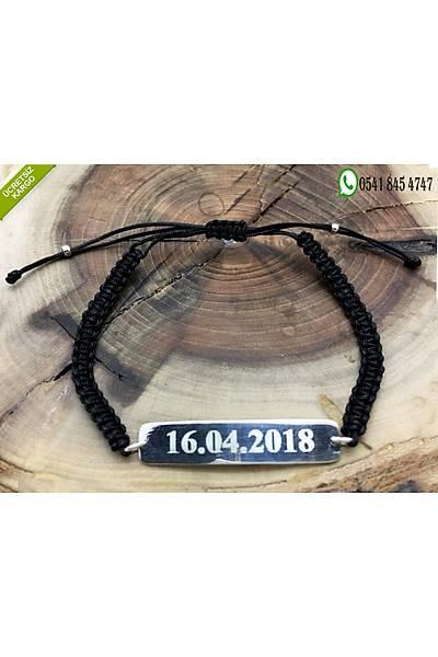 925 Ayar Gümüþ Kiþiye Özel (Ýsim&Tarih) Yazýlabilir Plakalý Bileklik Stok Kodu:20181542