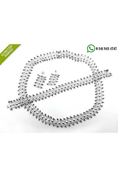 Kýrkayak Model 925 Ayar Gümüþ Bayan Üçlü Set Stok Kodu:2017644