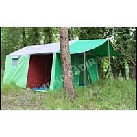 2 Oda Bir Salon Kamp Çadýrý (Ýçten Demirli) (300x400x205cm)