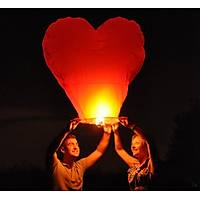 Uçan Gökyüzü Gece Balon Feneri-Dilek Feneri Kalp