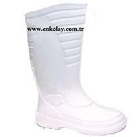 Lemigo Wellington 863 Beyaz Çizme (Thermolite Çorap Hediye)