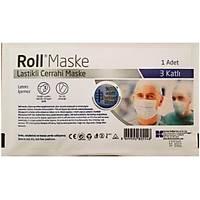 Roll Maske Tekli Steril Lastikli 3 Katlý  Maske