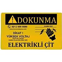 Elektrikli Çit Uyarý Levhasý (plexiglass)