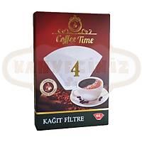 Coffee Time 4 Numara 100 Adet Filtre Kahve Kaðýdý