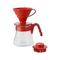 Hario V60 02 Kahve Demleme Seti Kýrmýzý