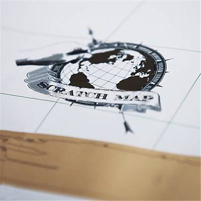 Scratch Map - Kazýma Poster Dünya Haritasý