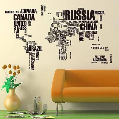 Dünya Haritası Duvar Stickeri