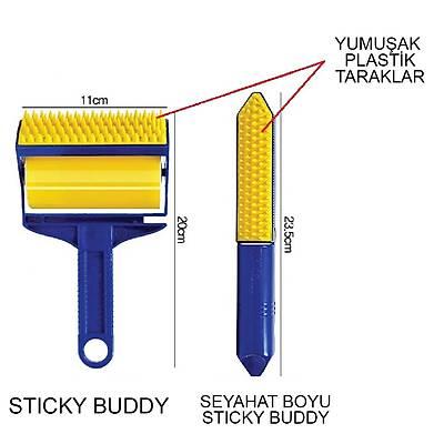 Sticky Buddy Tekrar Kullanılabilir Yapışkan Kıl Tüy Toplama Rulosu Seti