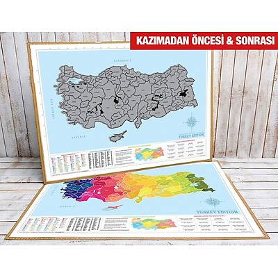 Scratch Map Turkey Edition - Kazýma Poster Haritasý Türkiye