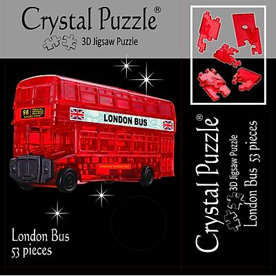 3D Crystal Puzzle London Bus - 3 Boyutlu London Otobüs Puzzle