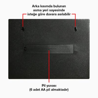 Renk Deðiþtiren LightBox A4 - Iþýklý Yazý Panosu 90 Harf