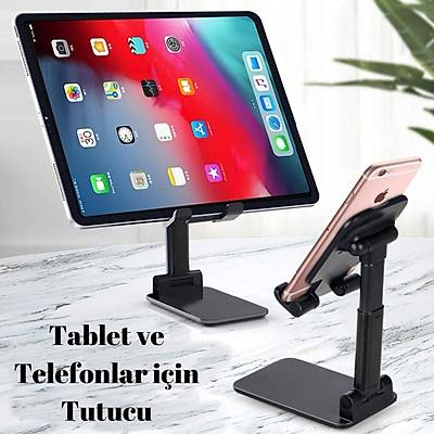 Masa Üstü Aynalý Telefon Tablet Tutucu