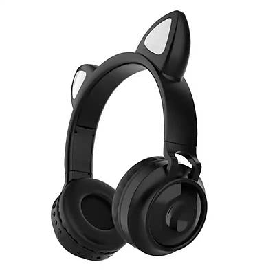 Cat Ear Wriless Headphones - Kablosuz LED Iþýklý Kulaklýk