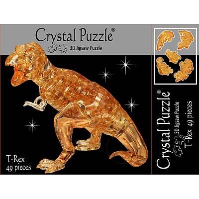 3D Crystal Puzzle BrownT-Rex - 3 Boyutlu Kahverengi T-Rex Puzzle