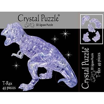 3D Crystal Puzzle White T-Rex - 3 Boyutlu Þeffaf T-Rex Puzzle