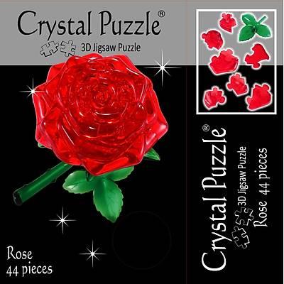 3D Crystal Puzzle Red Rose - 3 Boyutlu Kýrmýzý Gül Puzzle