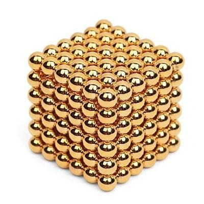 Neodymium Manyetik Altýn Küreler Gold Cube Magnets -Süper Mýknatýs