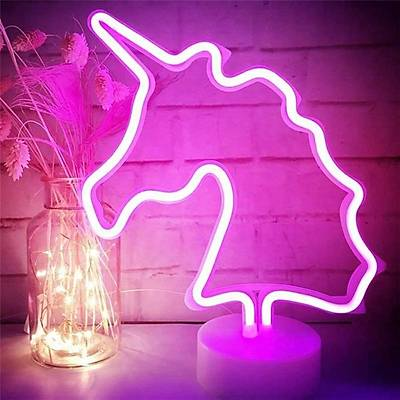 Unicorn Neon Dekor Aydýnlatma - Pilli