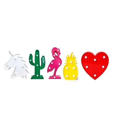 Dekoratif Mini Led Lambalar - At-Kaktüs-Pelikan-Kalp-Ananas