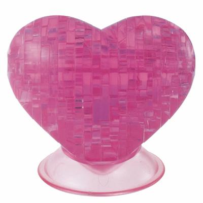 3D Crystal Puzzle Pink Heart- 3 Boyutlu Pembe Kalp Puzzle