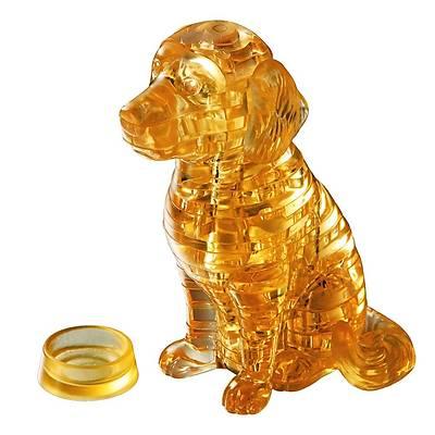 3D Crystal Puzzle Golden Retriever - 3 Boyutlu London Golden Retriever