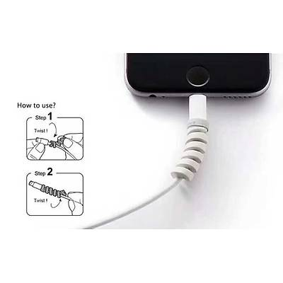 4'lü Silikon Kablo Koruyucu - Cable Protector