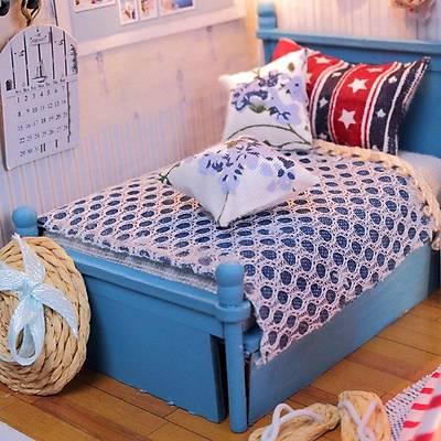 DIY Doll House - Blue Model Çocuk Evi