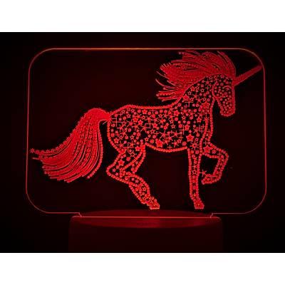 3D Dekoratif Unicorn Lamba