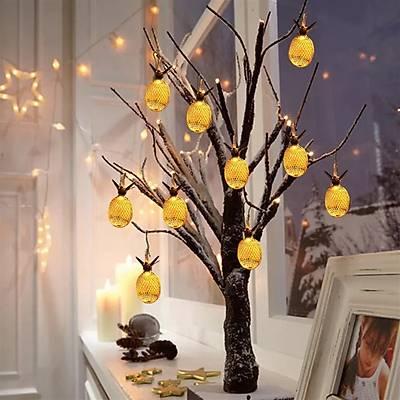 Ananas Figürlü 3 Metre 10 Lu Dekoratif Led Lamba