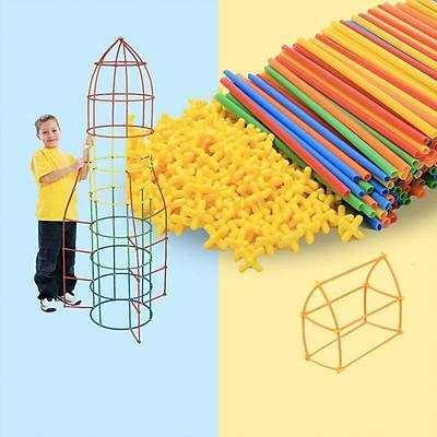 4D DIY Block - Yaratýcý Bambu Çubuklarý