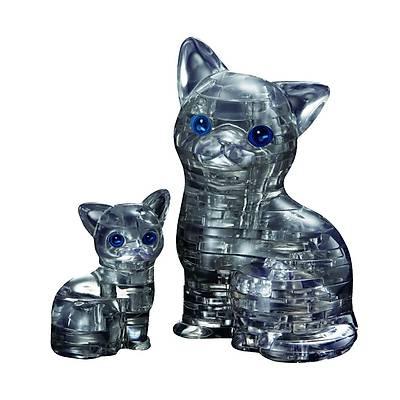 3D Crystal Puzzle Cat & Kitten- 3 Boyutlu Kedi Puzzle