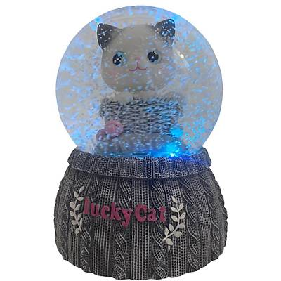 Lucky Cat Iþýklý Müzikli Kar Küresi Büyük Boy
