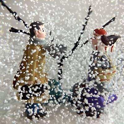 Kýþ Masalý Müzikli Kar küresi (Retro)