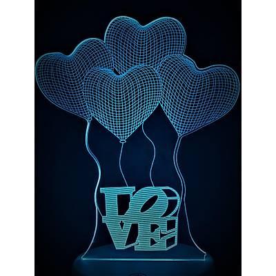 3D Dekoratif Love Lamba