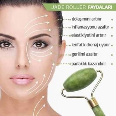 Jade Roller - 2 li Yeþim Taþý Yüz Masaj Aleti