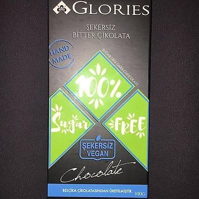 Glories Şekersiz Bitter Çikolata