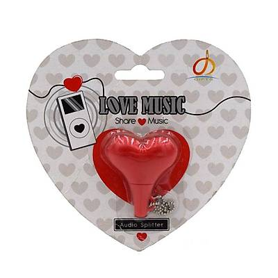 Music N Love - Kalp Şeklinde Kulaklık Ayıracı